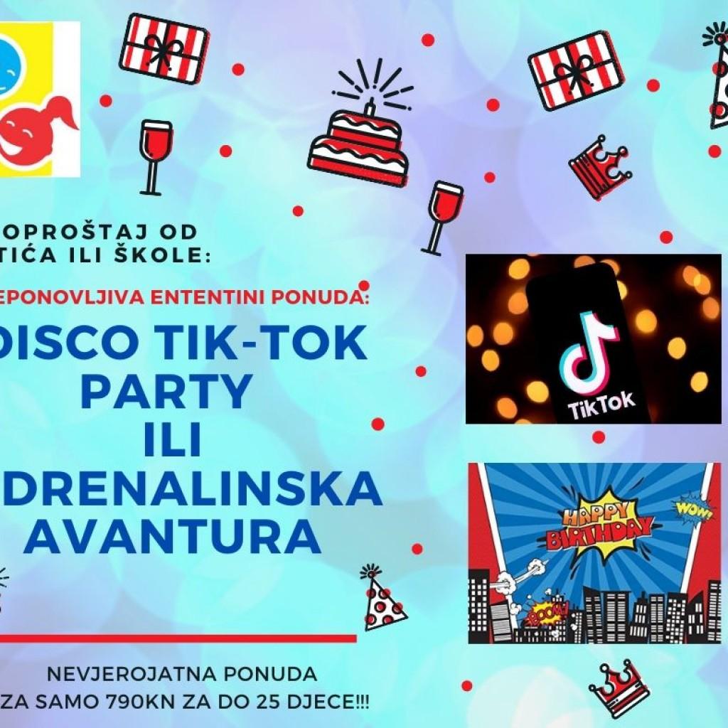disco tik-tok party ILI adrenalinska avantura
